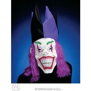 masker joker met haar en hoed