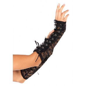 Lace Up Lace Arm Warmers