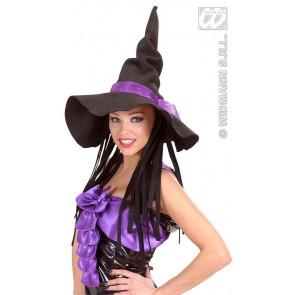 heksenhoed vilt met haar