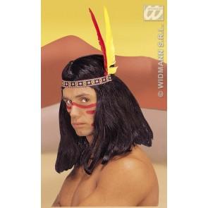 hoofdband indiaan met 2 veren