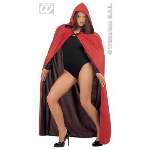 luxe zwart/rode 2-zijdige cape