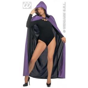 luxe zwart/paarse 2-zijdige cape