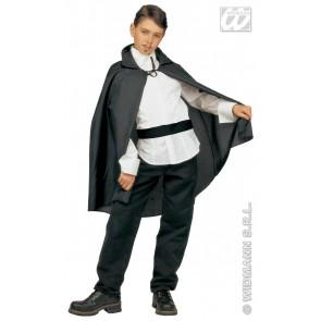 zwarte cape, kind, 90cm