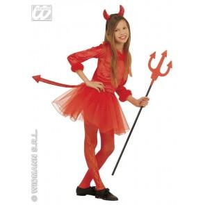 Duivels meisje kind kostuum