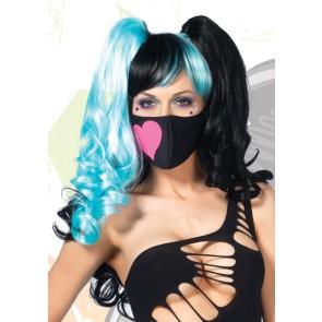 Neon Heart Face Mask
