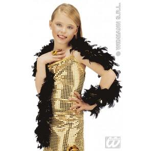 boa glamour girl, zwart met goud