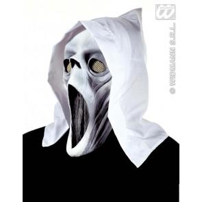 masker geest met doek, lichtgevend in donker