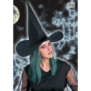 heksenhoed met groen haar