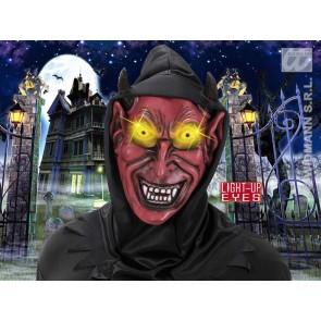 duivelmasker met kap, lichtg. ogen