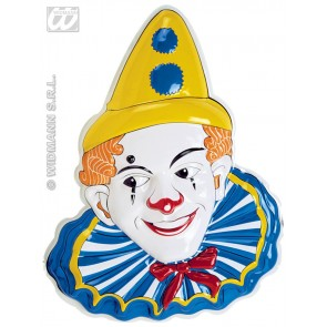 3d wanddecoratie clown met puntmuts