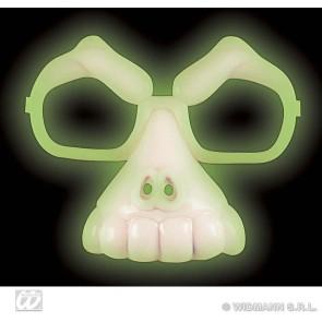 schedelbril, lichtgevend in donker