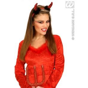 rode duivelhoorn pailletten met marabou