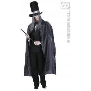 zwarte cape 130cm