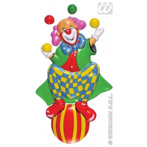 pvc 3d decoratie, clown op ballon