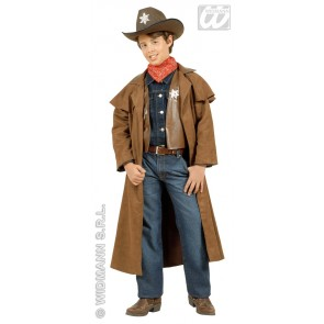cowboy jongen, suede kind kostuum