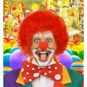 pruik, clown rood