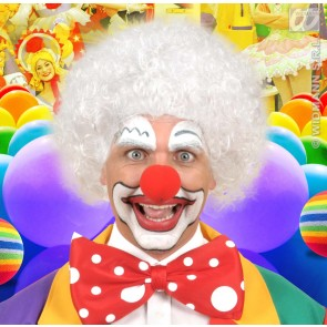 pruik, clown wit