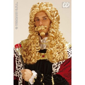 pruik, le roi blond (in plastic zak)