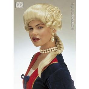 pruik, hertogin josephine blond (in plastic zak)
