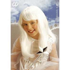 pruik, engel kind (in plastic zak)