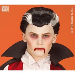 pruik, vampier kind (in plastic zak)