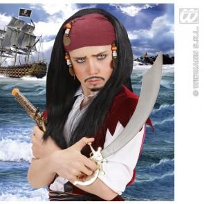 pruik, carrabische piraat voor kind