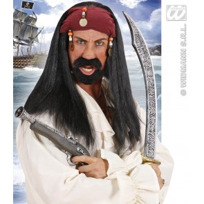 "pruik, ""pirate of the caribbean"""