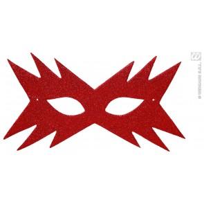 oogmasker, ster rood