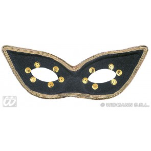 oogmasker carnaval, zwart