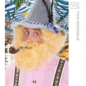 pruik, karakter met krullen en baard, blond