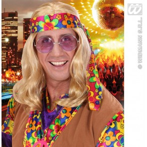 pruik, hippie (lennon) blond