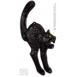 wanddecoratie zwarte kat, lichtgevend in donker 3d