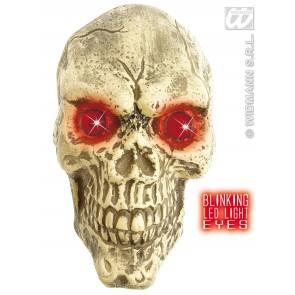 wanddecoratie schedel met led ogen, 25cm