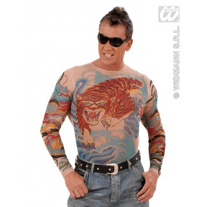 tattoo shirt tijger en draak, man