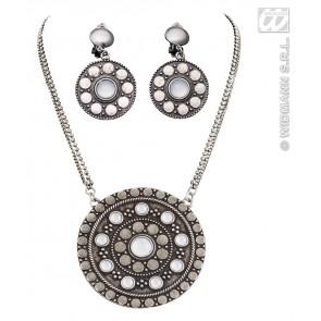 ketting en oorring set keltisch, zilver
