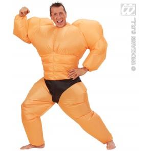 opblaasbaar kostuum bodybuilder
