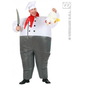 opblaasbaar kostuum chef kok