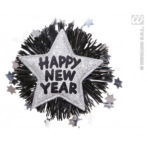 "broche ""happy new year"" zilver"