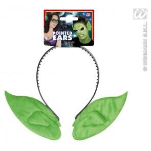 hoofdband met puntoren, groen