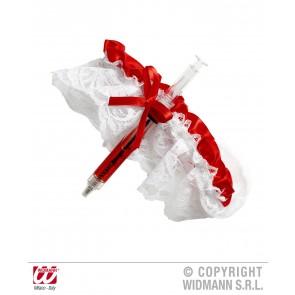 kousenband sexy non wit/rood
