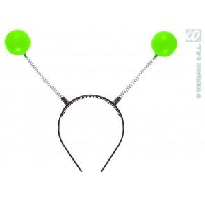 hoofdband met groen antennes