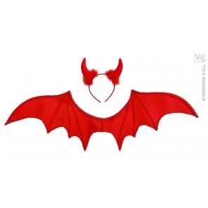 duivel set, rood