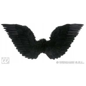 gevederde vleugels zwart 86x31
