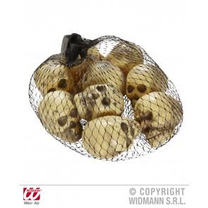 set van 9 schedels in een zak