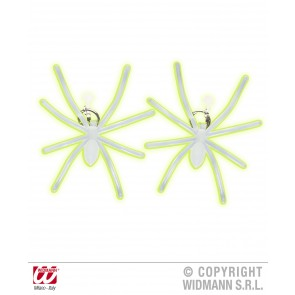 oorringen spin lichtgevend in donker