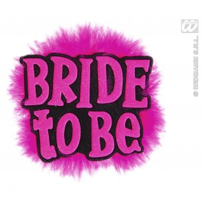 "broche zwart ""bride to be"""