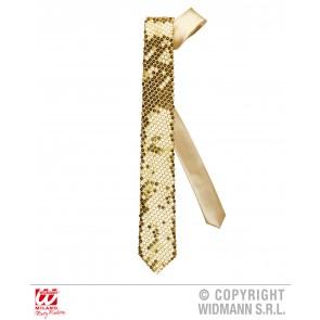 stropdas pailletten goud
