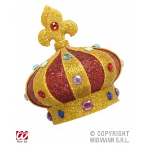 mini glitter kroon met stenen