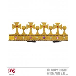 mini glitter kroon met stenen, buigbaar