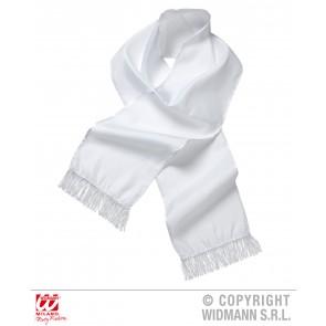 witte satijnen sjaal